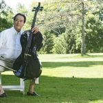 Yo Yo Ma on the Lawn at Tanglewood with his Luis & Clark Cello